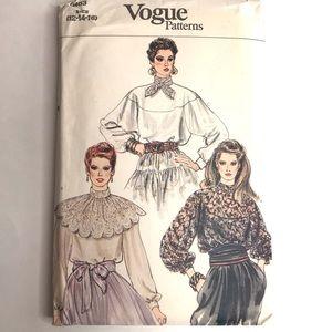 Vintage Vogue Sewing Pattern Lace Blouse Sz 12-16